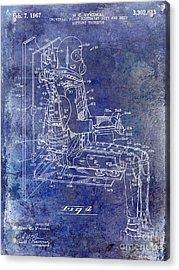1967 Pilot G Suit Patent Blue Acrylic Print by Jon Neidert