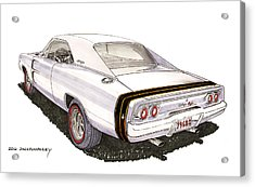 1968 Dodge Charger R T Acrylic Print by Jack Pumphrey