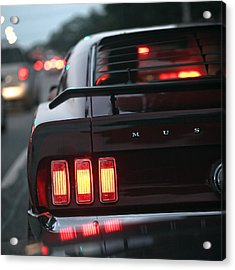 Acrylic Print featuring the photograph 1969 Ford Mustang Mach 1 by Gordon Dean II
