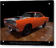 1969 Plymouth Road Runner A12 Acrylic Print