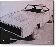 1970 Dodge Charger Acrylic Print by Gayle Caldwell