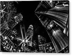 1st January, 2014, Charlotte, Nc, Usa - Nightlife Around Charlot Acrylic Print by Alex Grichenko
