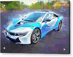 Acrylic Print featuring the photograph 2015 Bmw I8 Hybrid Sports Car by Rich Franco