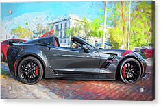 Acrylic Print featuring the photograph 2017 Chevrolet Corvette Gran Sport  by Rich Franco