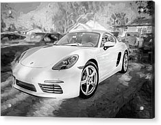 2017 Porsche Cayman 718 S  Bw    Acrylic Print