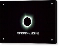 2017 Total Solar Eclipse Acrylic Print