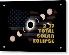 2017 Total Solar Eclipse Across America Acrylic Print by David Gn