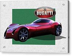 2025 Bugatti Aerolithe Concept With 3 D Badge  Acrylic Print
