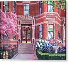 238 Marlborough Street Acrylic Print by Laura DeDonato