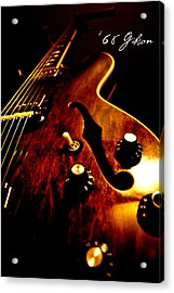 '68 Gibson Acrylic Print by Christopher Gaston