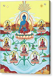 8 Medicine Buddhas Acrylic Print by Carmen Mensink