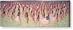 911 Tribute Flags, Pepperdine Acrylic Print by Panoramic Images