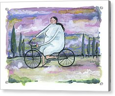 Acrylic Print featuring the painting A Beautiful Day For A Ride by Leanne WILKES