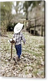 A Boy And His Horse Acrylic Print by Scott Pellegrin