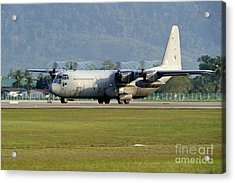 A C-130j Hercules Of The Royal Acrylic Print by Remo Guidi