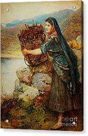 A Connemara Girl Acrylic Print