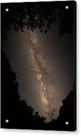A Dark Night In Zion Canyon Acrylic Print