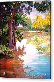 Acrylic Print featuring the painting A Fine Day by AnnE Dentler