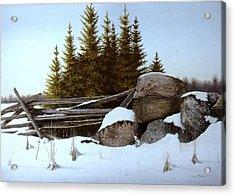 A Gentle Winter Breeze Acrylic Print by Conrad Mieschke