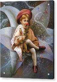 A Girl And A Fairy Of 7 Acrylic Print