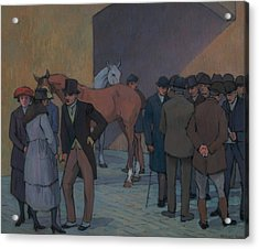 A Morning At Tattersall's Acrylic Print by Robert Bevan