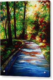 A Morning Walk Acrylic Print