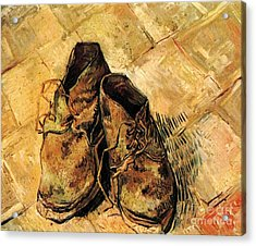 A Pair Of Shoes Acrylic Print by Vincent Van Gogh