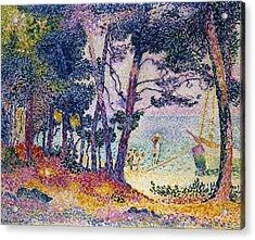 A Pine Grove Acrylic Print by Henri-Edmond Cross
