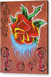 A Rose For The Wife Acrylic Print by Landon Clary