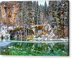 Olena Art Serene Chill Hanging Lake Photograph The Gem Of Glenwood Canyon Colorado Acrylic Print