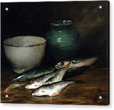 A Small Pile Of Fish William Merritt Chase Acrylic Print
