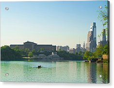 Acrylic Print featuring the photograph A Spring Morning In Philadelphia by Bill Cannon