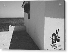 A Street Scene In Bozcaada Acrylic Print by Ilker Goksen