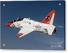 A T-45c Goshawk Training Aircraft Acrylic Print by Stocktrek Images