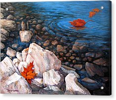 A Touch Of Fall Acrylic Print by Tanja Ware