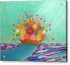 A Vase Of Flowers Iv Acrylic Print