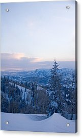 A View Out Over The Mountains Of Utah Acrylic Print by Taylor S. Kennedy