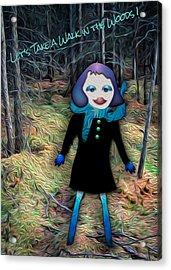 Let's Take A Walk In The Woods Acrylic Print by Bonnie Follett