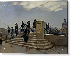 A Windy Day On The Pont Des Arts Acrylic Print