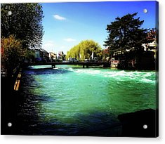 Acrylic Print featuring the photograph Aare River by Mimulux patricia no No