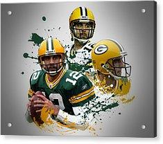 Aaron Rodgers Packers Acrylic Print by Joe Hamilton