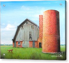 Acrylic Print featuring the painting Abandoned by Oz Freedgood