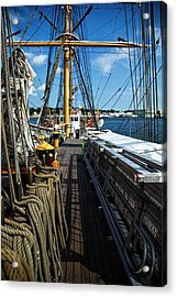 Acrylic Print featuring the photograph Aboard The Eagle by Karol Livote