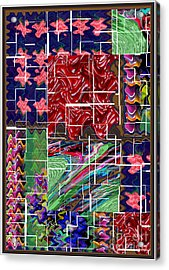 Abstract Art  Holy Grail Fruitopedia Please Check Out More Signature Graphics From Navin Joshi Acrylic Print by Navin Joshi