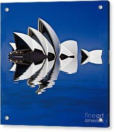Abstract Of Sydney Opera House Acrylic Print by Avalon Fine Art Photography