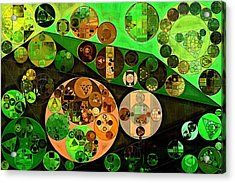 Abstract Painting - Black Bean Acrylic Print