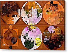 Abstract Painting - Caput Mortuum Acrylic Print by Vitaliy Gladkiy