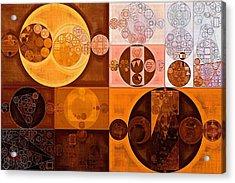 Abstract Painting - Cinnamon Acrylic Print by Vitaliy Gladkiy