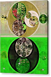 Abstract Painting - Dark Jungle Green Acrylic Print by Vitaliy Gladkiy