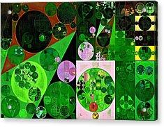 Abstract Painting - Deep Fir Acrylic Print by Vitaliy Gladkiy